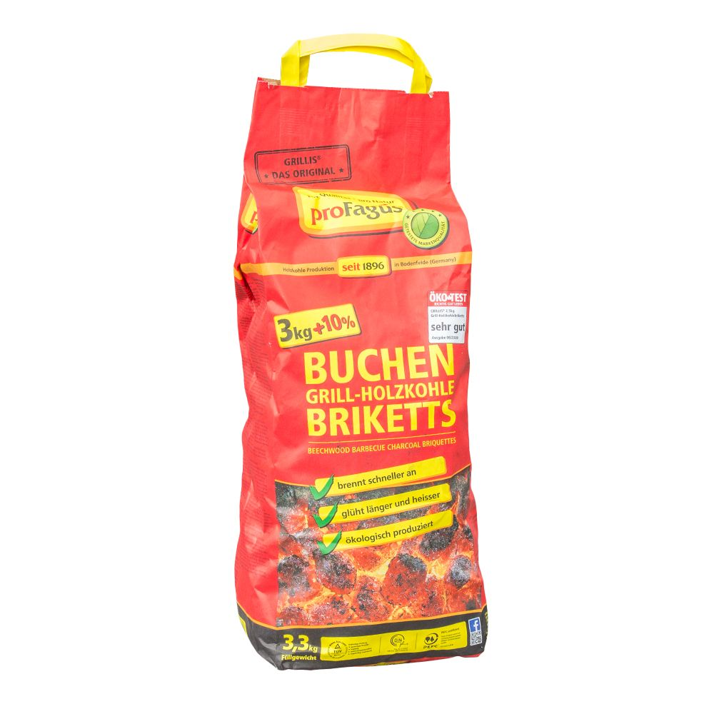 Dancook premium grillbriketts 2 x 3 kg bbq holzkohle grill for Grill holzkohle