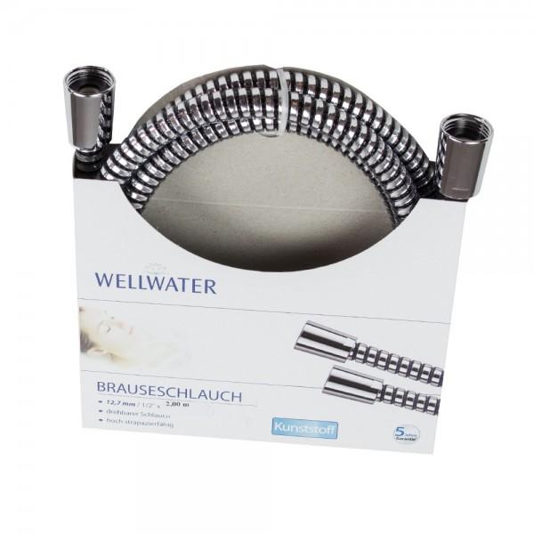 Brauseschlauch 12,7 mm-1/2 200 cm Kunststoff drehbar Wellwater