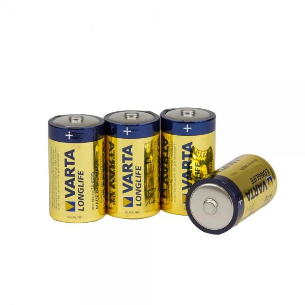 VARTA Batterien 4 Stk LONGLIFE D LR20 Mono
