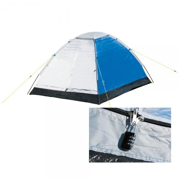 Kuppelzelt Mono Dome 205 x 145 x 100 cm blau/silber Camping Zelt