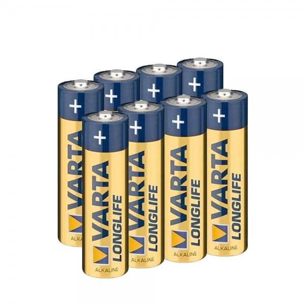 VARTA Batterien 8 Stk LONGLIFE AA Mignon Alkaline