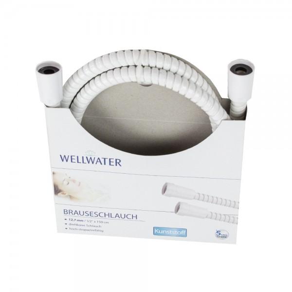 Brauseschlauch 12,7 mm-1/2 150 cm Kunststoff Duschschlauch Wellwater