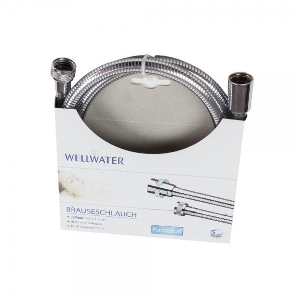 Brauseschlauch 12,7 mm-1/2 150 cm Kunststoff Drehbar Wellwater