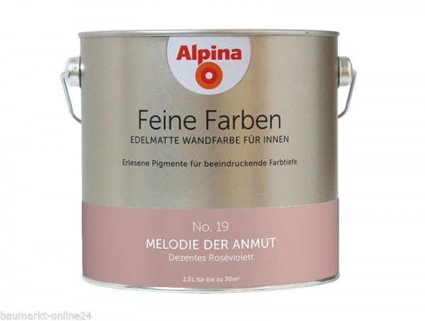 alpina feine farben no 19 melodie der armut 2 5 l wand deckenfarbe lafloma gmbh. Black Bedroom Furniture Sets. Home Design Ideas