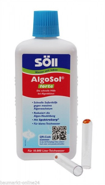 Söll AlgoSol® forte Schwebealgen Vernichter 500 ml