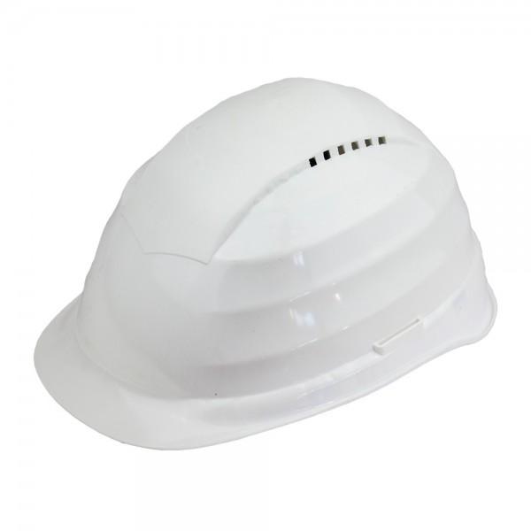 Schutzhelm in Weiss mit Belueftung Arbeitsschutz Helm