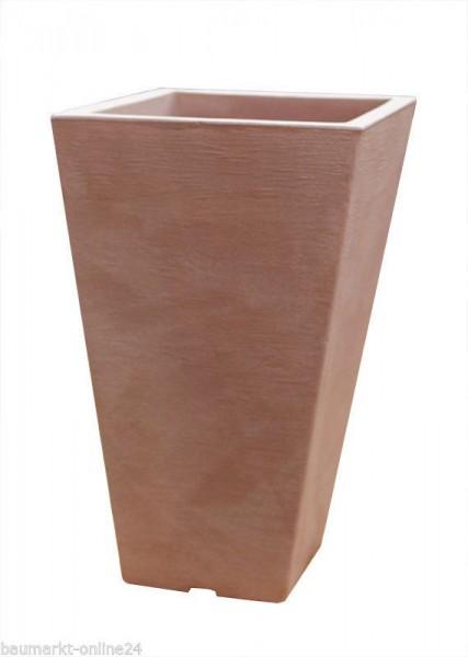 Pflanztopf CAPRI Eckig Terracotta 24x24x35 cm Blumenkasten
