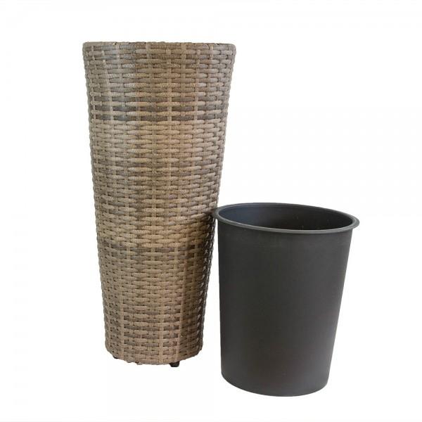 Runde Vase aus Rattan 60 cm Provenze