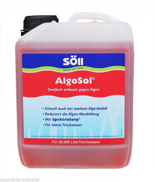 Söll AlgoSol® Algenvernichter 2,5 L