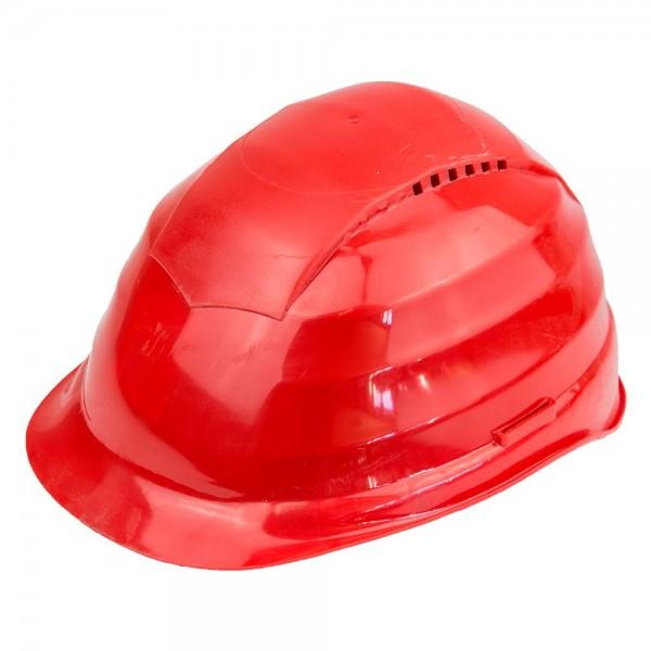 Schutzhelm in Rot mit Belueftung Arbeitsschutz Helm