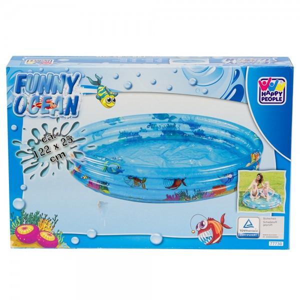 Planschbecken Pool 3-Ring 122 x 25 cm Funny Ocean