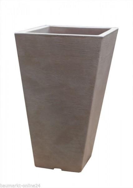 Pflanztopf CAPRI Eckig Taupe 35x35x55 cm Blumenkasten