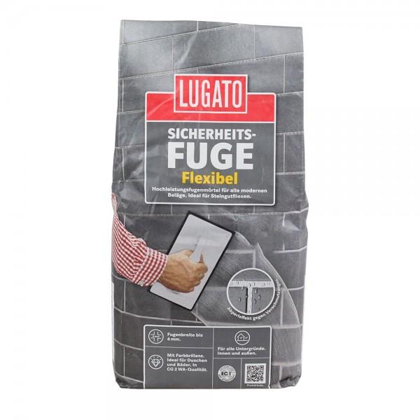 Sicherheitsfuge Flexibel 5 kg Schwarz Fugen Mörtel Lugato