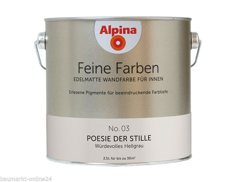 alpina feine farben no 03 posie der stille 2 5 l wand und deckenfarbe lafloma gmbh. Black Bedroom Furniture Sets. Home Design Ideas