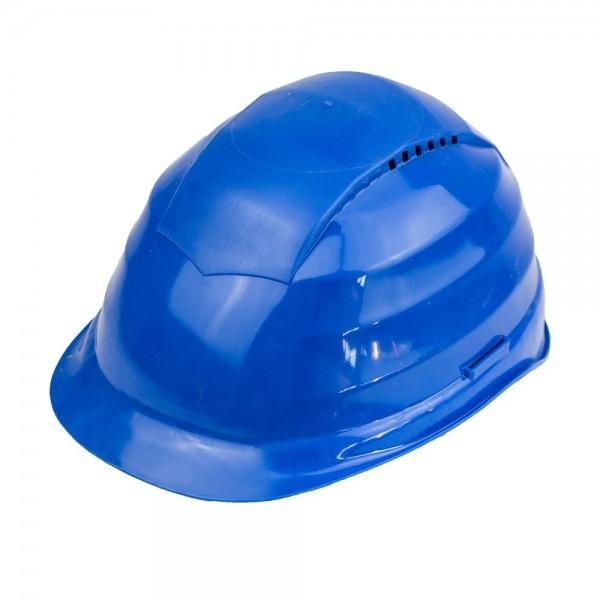 Schutzhelm in Blau mit Belueftung Arbeitsschutz Helm
