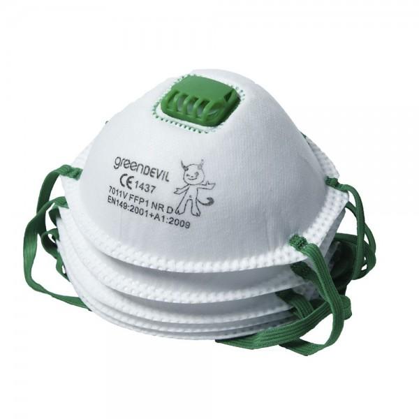 Feinstaubmaske 5 Stk FFP1 mit Ventil Staub Maske