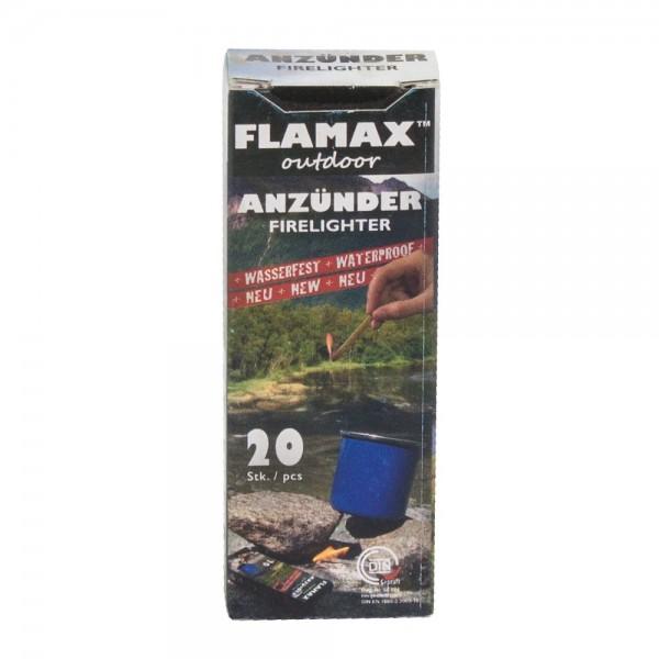 Flamax Outdoor Anzuender 20 wetterfeste Zuendsticks