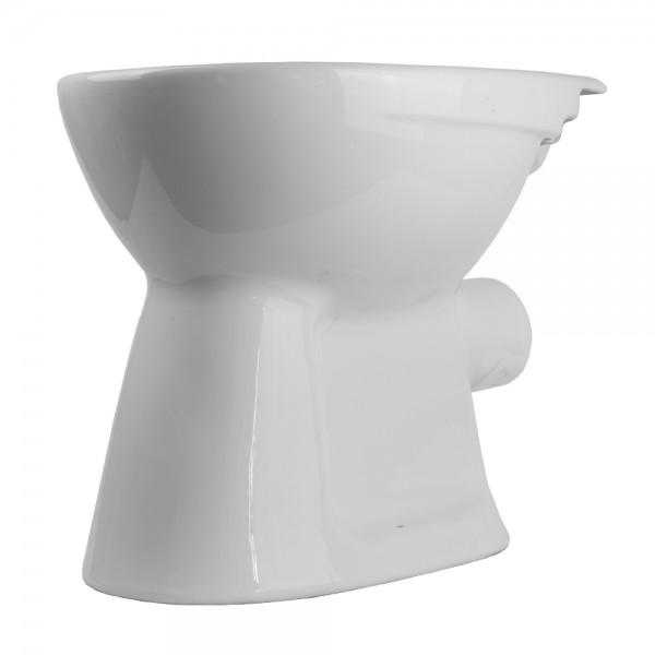 Stand WC Weiß Flachspüler Abgang Waagerecht Toilette stehend