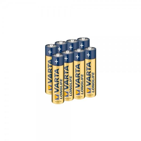 VARTA Batterien 8 Stk LONGLIFE AAA Micro