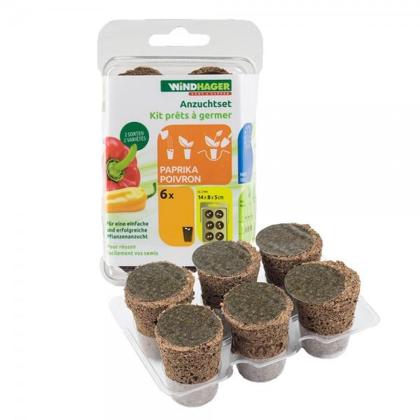 ANZUCHTSET Paprika 6 Stück Windhager Pflanzen Anzucht Gemüse