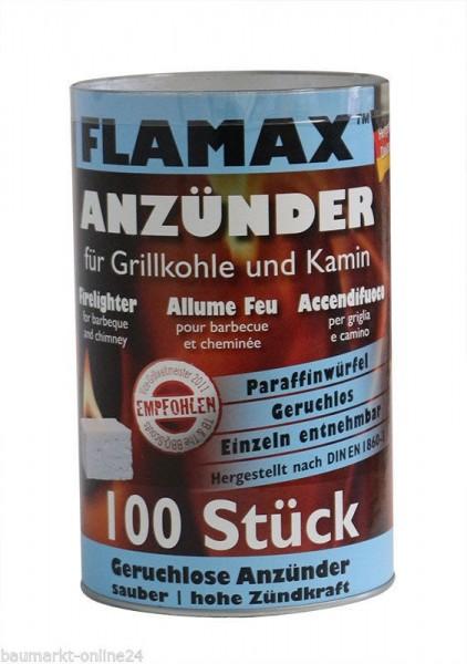 Flamax 100 Stk Grillanzünder