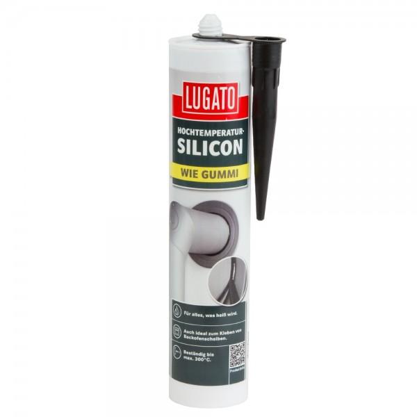 Lugato Hochtemperatur-Silicon 310 ml wie Gummi