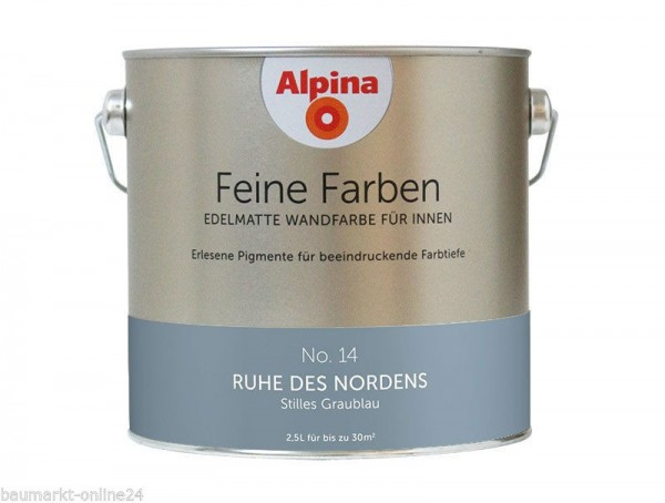 alpina feine farben no 14 ruhe des nordens 2 5 l wand deckenfarbe lafloma gmbh. Black Bedroom Furniture Sets. Home Design Ideas