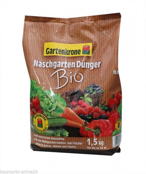 Naschgarten Bio Dünger 1,5 Kg Gartenkrone