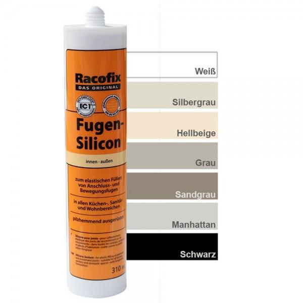 Racofix Fugen-Silicon 310 ml Farbe Schwarz