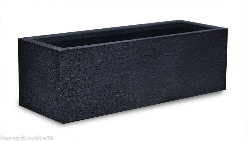 pflanzk bel kubus pflanztopf 80 cm kunststoff anthrazit ebay. Black Bedroom Furniture Sets. Home Design Ideas