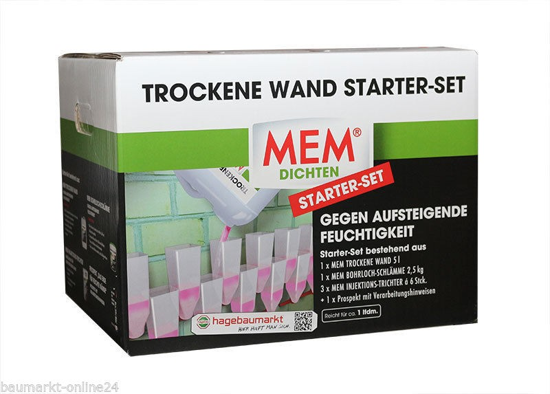 mem trockene wand 5l 18 injektionstrichter 2 5kg. Black Bedroom Furniture Sets. Home Design Ideas
