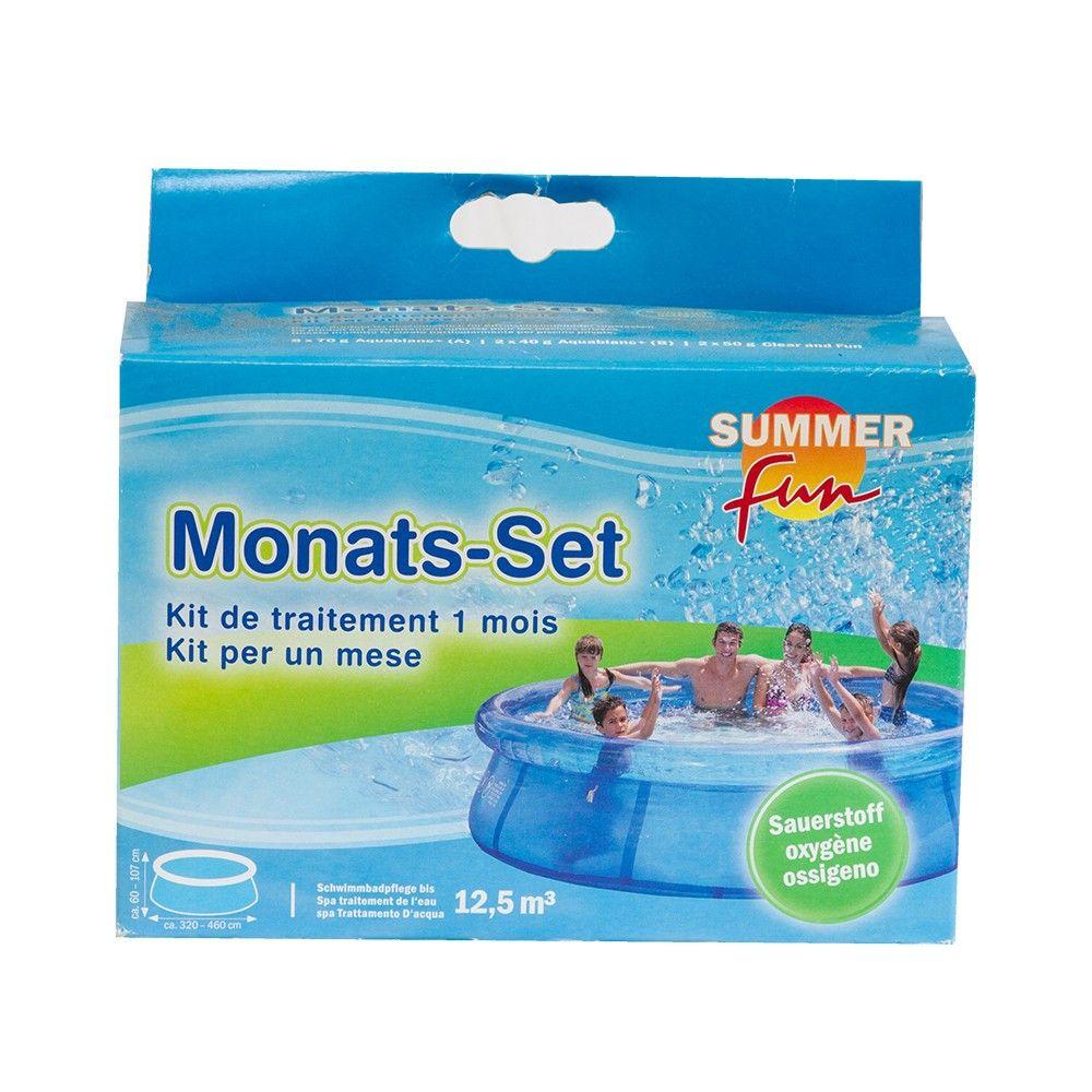 summer fun monatsset sauerstoff wasserpflege pool ebay. Black Bedroom Furniture Sets. Home Design Ideas
