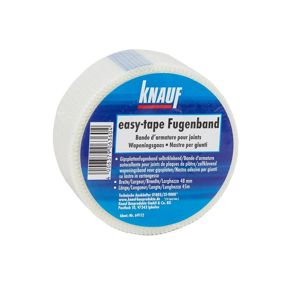 knauf easy tape 20 m x 48 mm fugenband selbstklebend fiberglas ebay. Black Bedroom Furniture Sets. Home Design Ideas