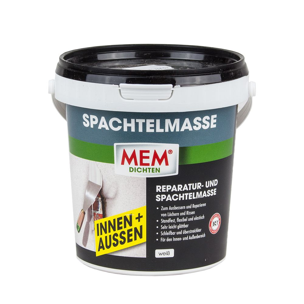 mem spachtelmasse innen aussen 1 kg stein beton gips metall mdf ebay. Black Bedroom Furniture Sets. Home Design Ideas